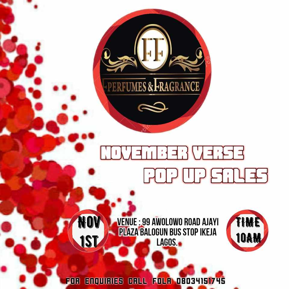 November Verse Pop Up Sales
